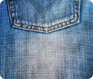 färga jeans blå